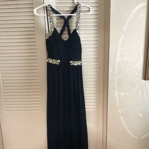 Dresses & Skirts - Navy Blue Rhinestone Special Occasion Dress